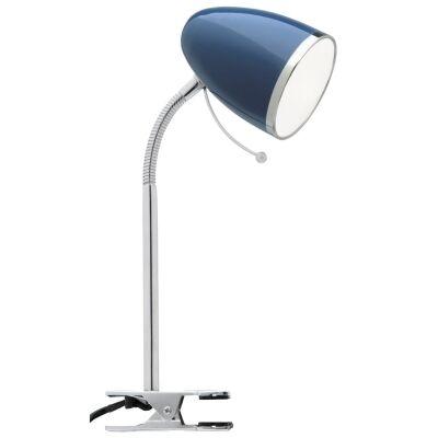 Sara Metal Clamp Desk Lamp, Navy