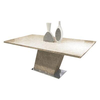 Miranda Marble Dining Table, 180cm, Beige