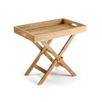 Bramley Solid Teak Timber Folding Side Table