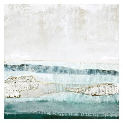 """""""Seascape"""" Stretched Canvas Abstract Oil Painting Wall Art, 100cm"""