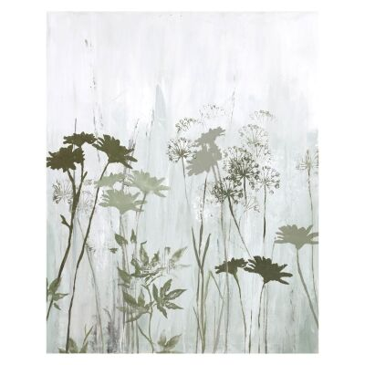 """""""Wild Flowers In The Mist"""" Stretched Canvas Oil Painting Wall Art, 100cm"""