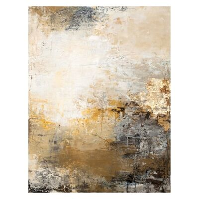"""""""Freja Milestone - I"""" Stretched Abstract Canvas Wall Art, 100cm"""