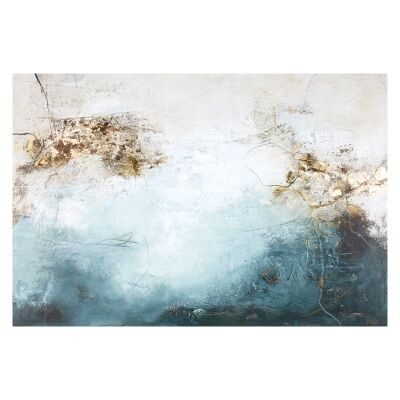 """""""Blanche - 2"""" Stretched Abstract Canvas Wall Art, 150cm"""