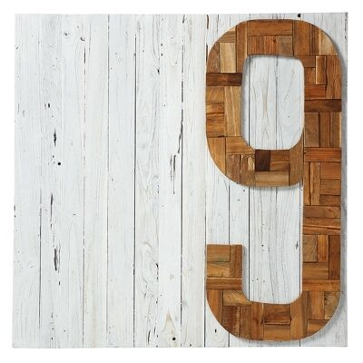 Dekalb Recycled Teak Timber 100cm Wall Art