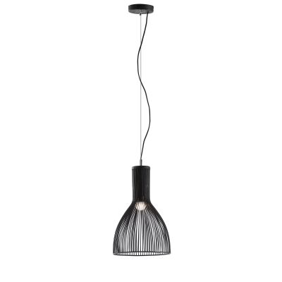 Campbell Iron Pendant Light, Black