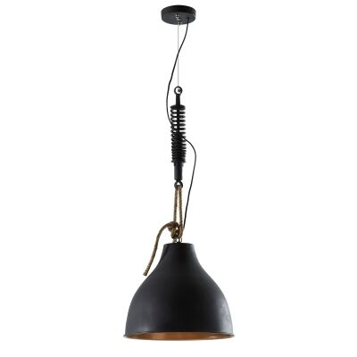 Eaton Iron Pendant Light, Black
