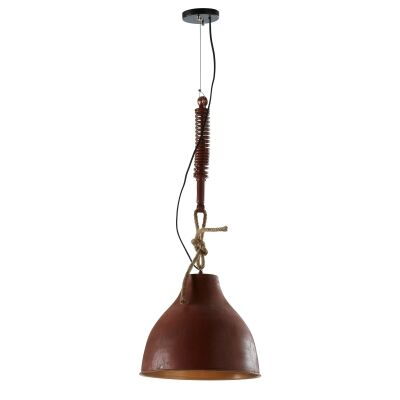 Eaton Iron Pendant Light, Rust