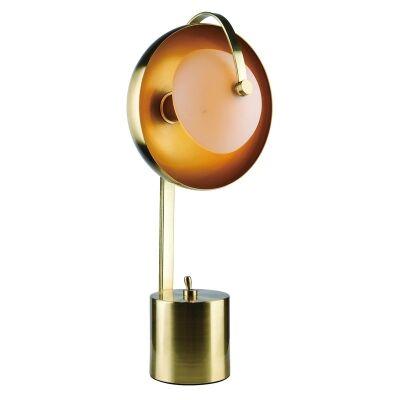 Mercury Metal Table Lamp, Brushed Brass
