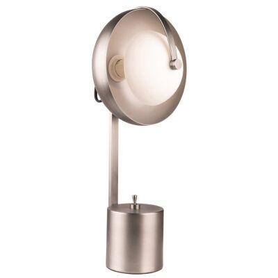Mercury Metal Table Lamp, Aged Nickel
