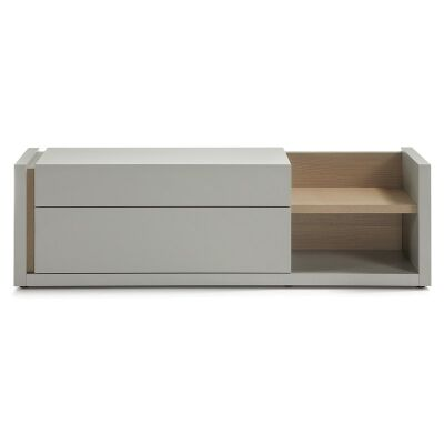 Amias 2 Drawer 170cm TV Unit - Grey