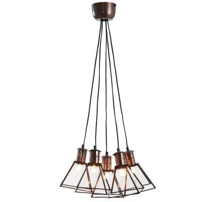 Quevy Metal & Glass Cluster Pendnat Light