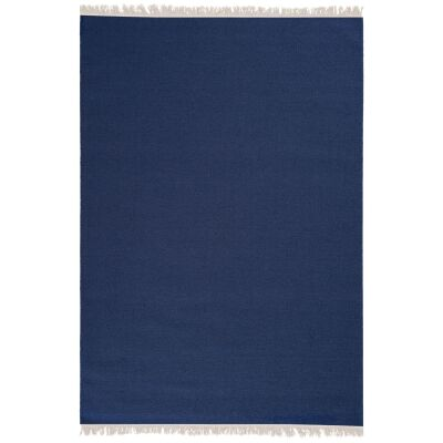 Stringa Modern Wool Rug, 300x200cm, Indigo