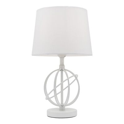 Saturn Metal Table Lamp, White