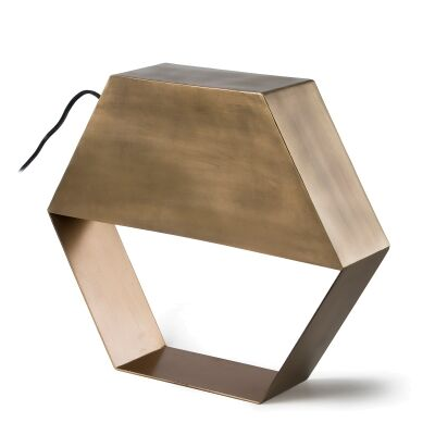 Bram Metal Geometric Table Lamp