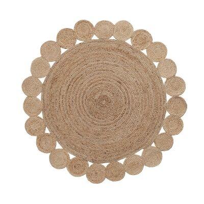 Angelos Hand Woven Jute Round Rug, 150cm
