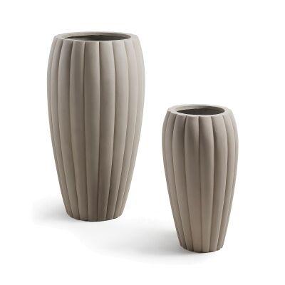 Kiara 2 Piece Cement Vase Set