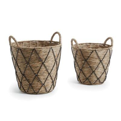 Murra 2 Piece Water Hyacinth Basket Set