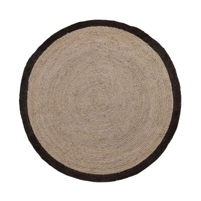 Haus Jute Round Rug, 200cm, Grey Wash / Charcoal