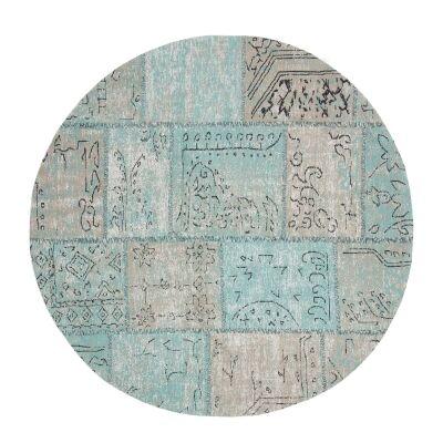Cassi Jacquard Cotton Chenille Round Rug, 150cm