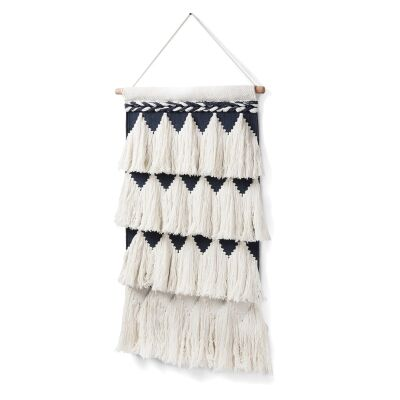 Deana Hand Knited Cotton Wall Tapestry, 70cm