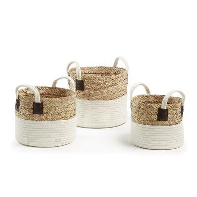 Kojo 3 Piece Woven Basket Set