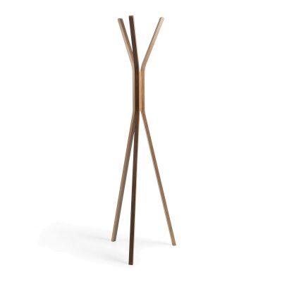 Maida Wooden Coat Rack, 174cm, Walnut