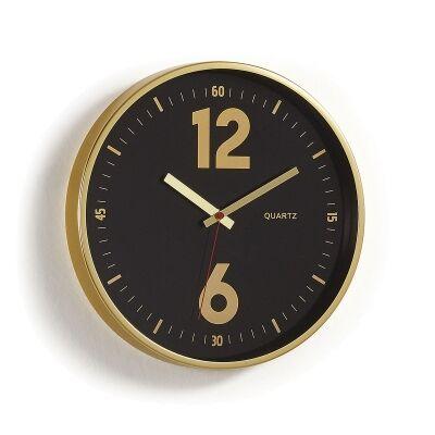 Akhtar Metal Frame Round Wall Clock, 35cm