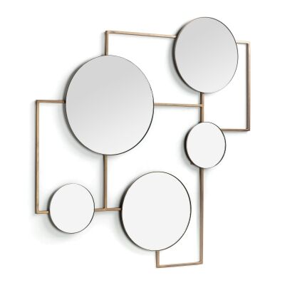 Assens Metal Frame Collage Wall Mirror, 83cm