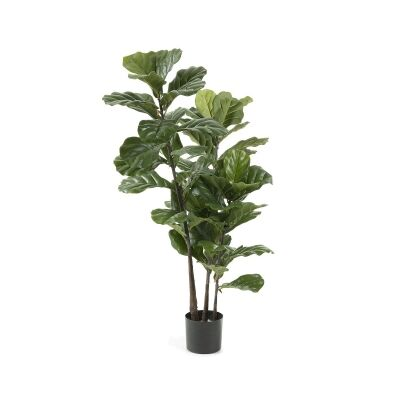 Kessell Potted Artificial Fiddle Leaf Fig Tree, 165cm