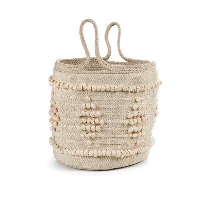 Norwich Hand Embroidered Cotton Basket