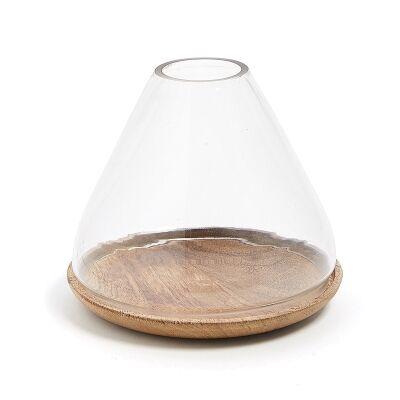 Clayton Glass Candleholder