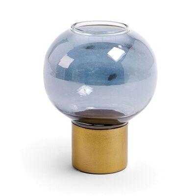 Burks Glass Candleholder, Small