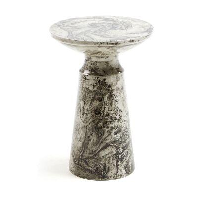 Sosa Enamelled Iron Round Side Table