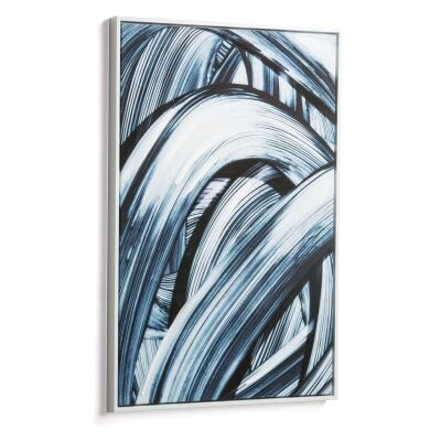 Hoxne Framed Abstract Canvas Wall Art Print, 90cm