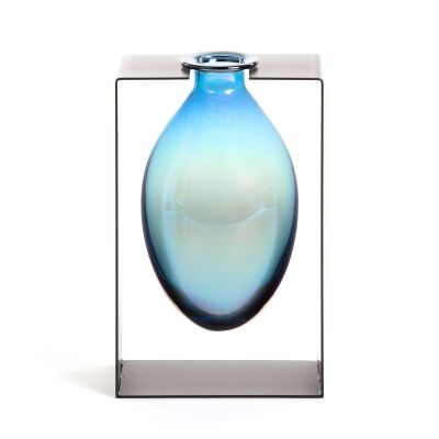 Elveden Glass & Metal Vase