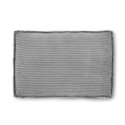 Lorton Corduroy Fabric Lumbar Cushion, Dark Grey