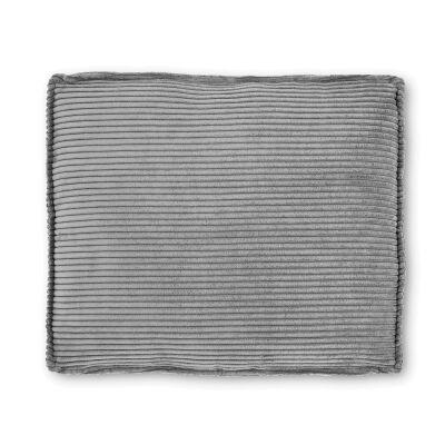 Lorton Corduroy Fabric Euro Cushion, Dark Grey