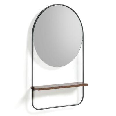 Mosser Metal Frame Wall Mirror with Shelf, 58cm