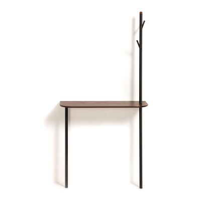 Mosser Metal & Wood Console Table with Coat Rack, 80cm
