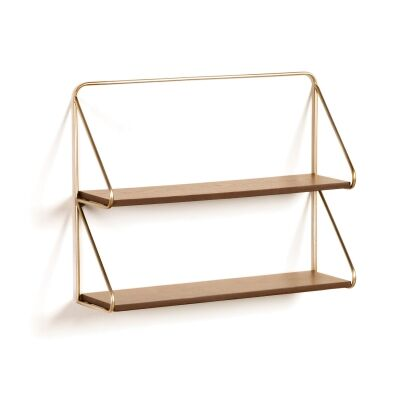 Bowscale Metal & Wood Wall Shelf