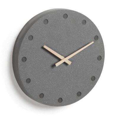 Carlise Cement Round Wall Clock, 28cm