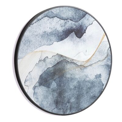 Monkhill Round Framed Canvas Wall Art Print, 60cm