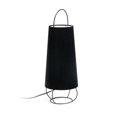 Lauro Velvet Fabric Table Lamp