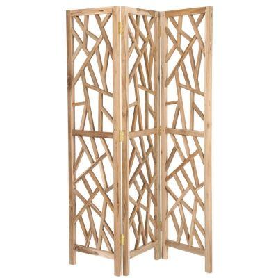 Evie Recycled Teak Timber Tri-fold Screen