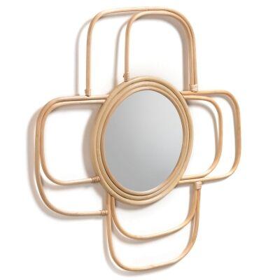 Bavington Handmade Rattan Frame Wall Mirror, 62cm