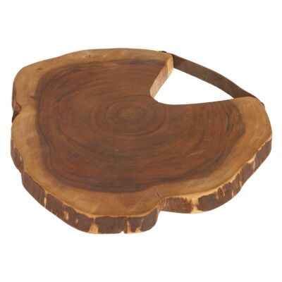 Barleno Acacia Timber Serving Board with Leather Strap