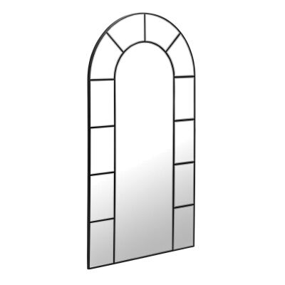 Escorial Metal Frame Arch Window Wall Mirror, 165cm