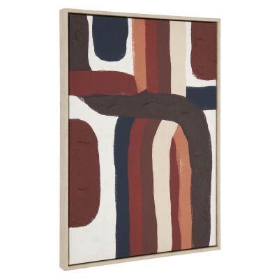Lochore Framed Abstract Canvas Wall Art, 90cm
