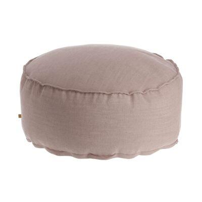 Moana Fabric Round Pouf, Blush