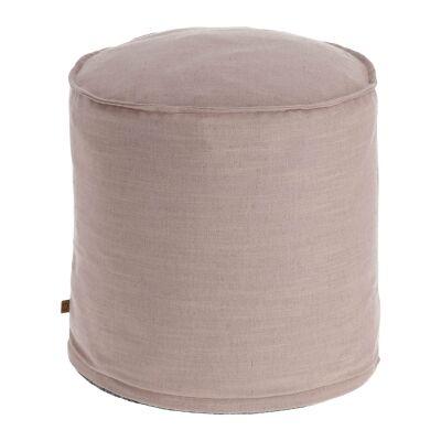 Moana Fabric Round Ottoman Stool, Blush